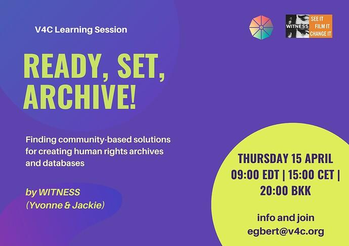 V4C learning event 15.04.2021